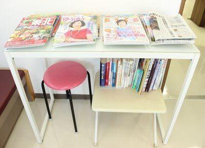 雑誌など、ご用意あります。お手すきの際は、ぜひお読みください。