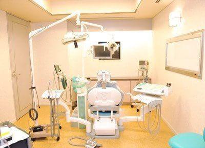 個室の診療室もご用意していますので、患者様とマンツーマンでじっくり治療します。