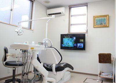 個室の治療室です。リラックスして治療を受けられます。