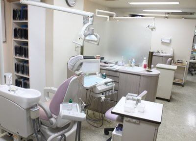 診療室内はパーテーションで仕切られています。