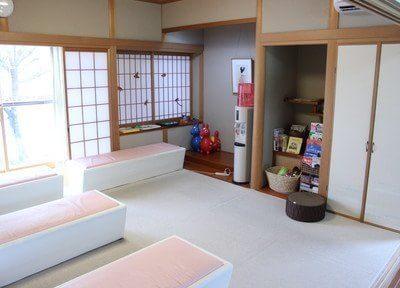 和室の待合室は、心安らぐ空間であること間違いなしです。