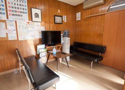 待合室です。テレビや雑誌をご用意しています。