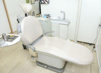 ゆったりと座れる診療チェアです。