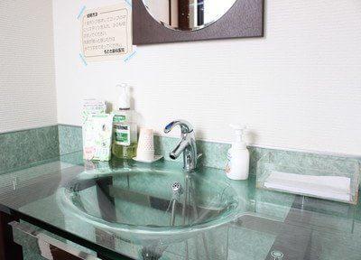 洗面台もあります。診療前の歯磨きにお使いください。