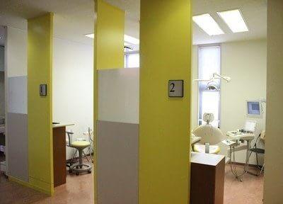 診療室はプライバシーに配慮しています。