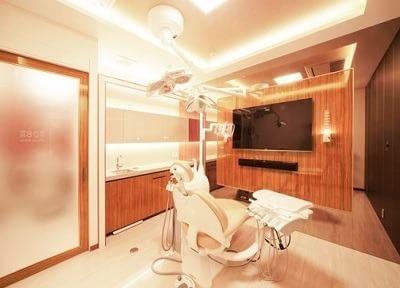 清潔感の溢れる、診療スペースです。