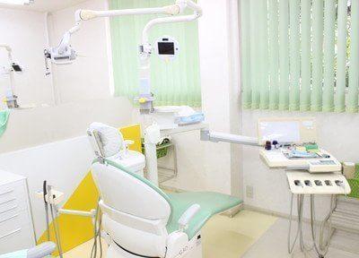 パステルカラーの診療室は緊張感が和らぎます。