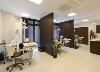 診療室はそれぞれ仕切られています
