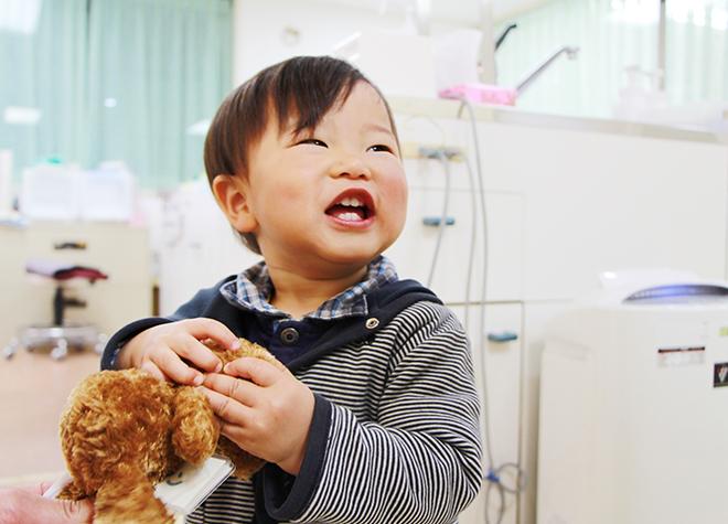 初めてご来院される小さな患者さまが、楽しんで通える工夫を行っています。