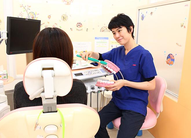 お子さまの歯を守るために、楽しく歯科医院へ通っていただけるよう心がけています