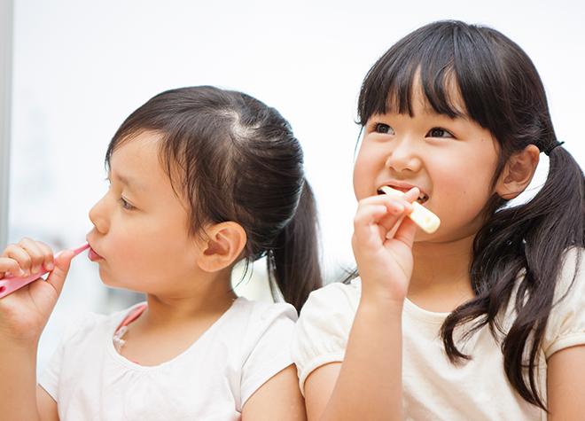 お子さまが虫歯にならないために、食生活のアドバイスもしています