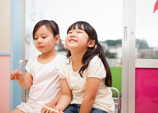 お子さまが怖がらないよう、音やにおいに配慮した治療を行っています。