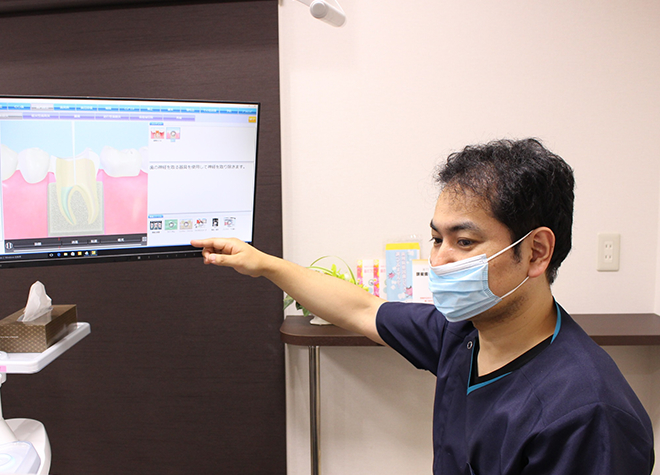 患者さまの条件に合わせた治療計画を、分かりやすく説明