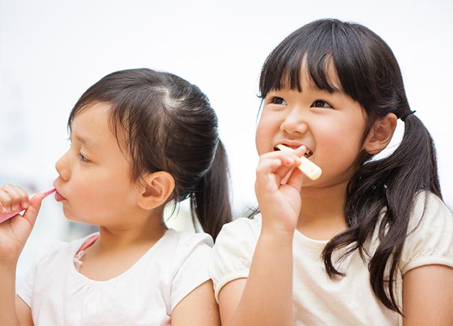 歯科医院に慣れてもらうため、お子さまのペースに合わせて治療や予防を行います