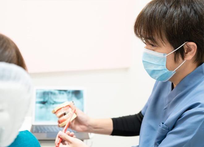 患者さまご自身の歯で食事が取れるよう、予防に重点を置いています。