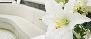 受付に飾られている花