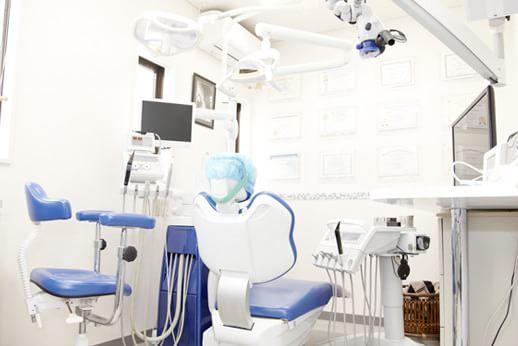 診療スペース。清潔感のある診療室です。