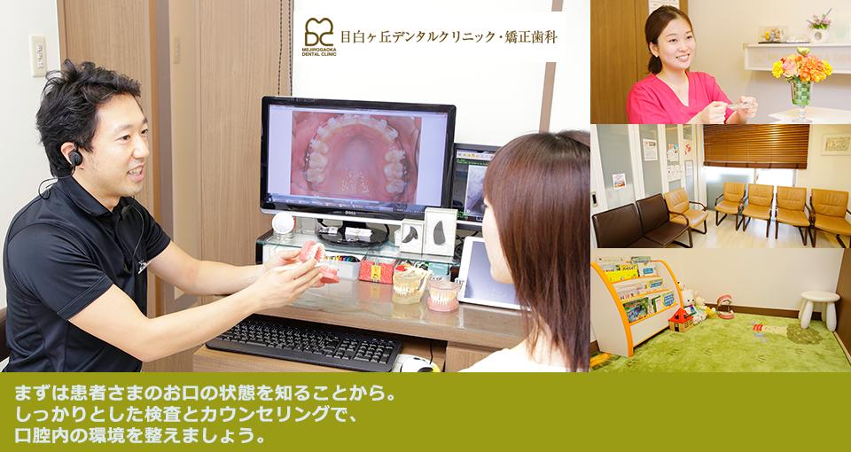まずは患者さまのお口の状態を知ることから。しっかりとした検査とカウンセリングで、口腔内の環境を整えましょう。