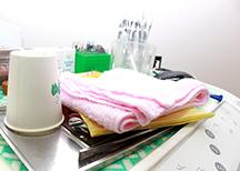 しっかりと行われた衛生管理患者さまのお口に入るものなので常に清潔にしております