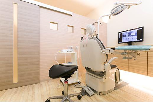 診療室には個室もご用意しております。