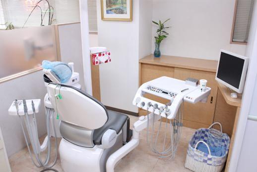 診療チェアは常に清潔にしています