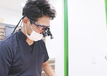 拡大鏡を使用した治療