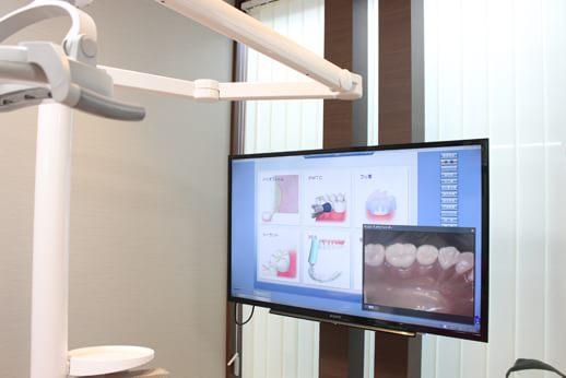 口腔内カメラでしっかりと症状を確認します