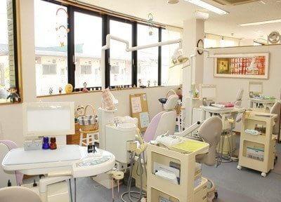 診療室はお子様が緊張しないように工夫しています。