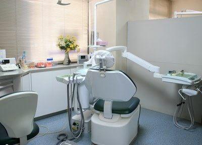 診察室はパーテーションで仕切っています。