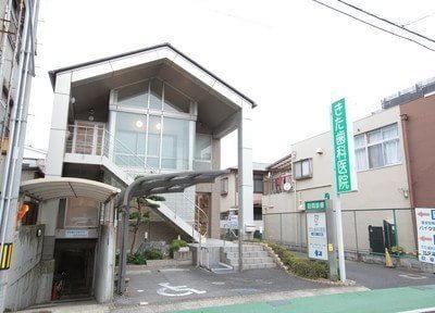 外観です。野洲駅より徒歩1分の位置にございます。