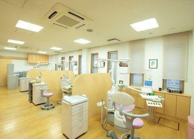 診療室です。広くて快適な空間です。