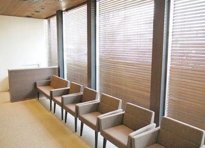 ゆったりとした雰囲気の待合室です。
