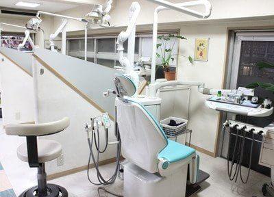各診療チェアはパーテーションで仕切られています。