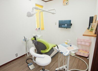 診療室です。モニターを使ってわかりやすい説明をいたします。