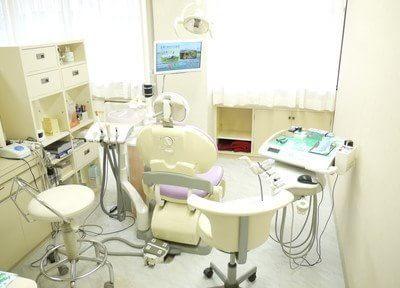 診療室はプライバシーを配慮しそれぞれ仕切られており隣から見えないようになっています。