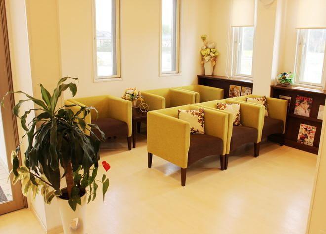 待合室には一人掛けのソファをご用意しておりますので、お待ちの間はこちらにお座りください。