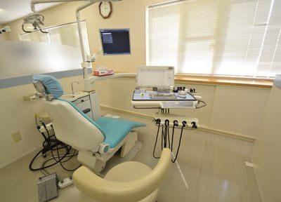 こちらの診療チェアで治療を行います。