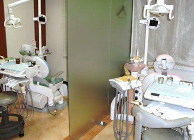 診療室はパーテーションで仕切られておりますので、プライベート空間を確保いただけます。