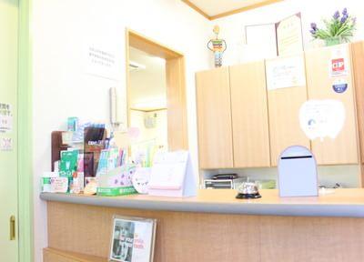 受付です。2回目以降の患者様は診察券をお持ちください。