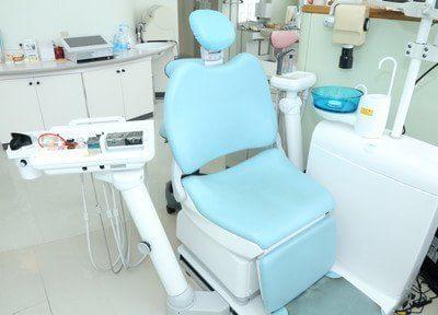診療ユニットです。モニターを見ながら丁寧な説明をし、納得の行く治療を提供します。