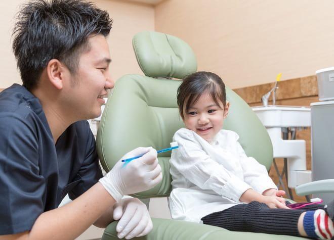 信頼関係を作りながら、歯医者に慣れて貰う