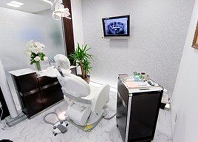 診療室内のモニターで、撮った歯の画像の確認を行えます。
