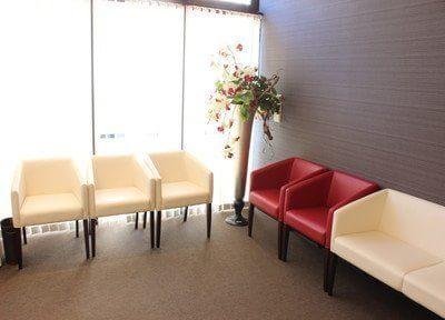 開放感ある待合室です。