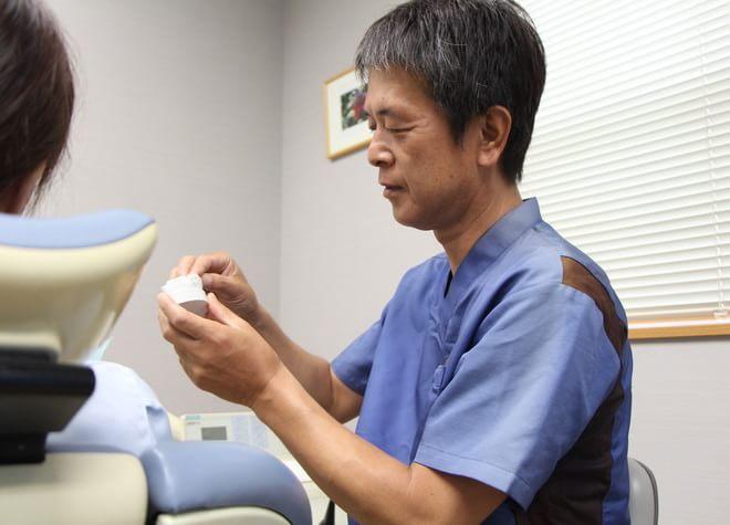 仮義歯を用いて、細かく調整をしてから本義歯を作製いたします。