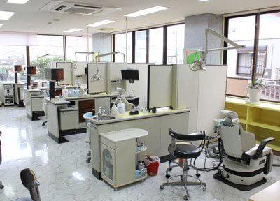 診療室です。院内は滅菌を徹底しており、院内感染の予防に努めております。