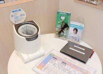 院内には血圧計がございますので、ご自由にご利用ください。