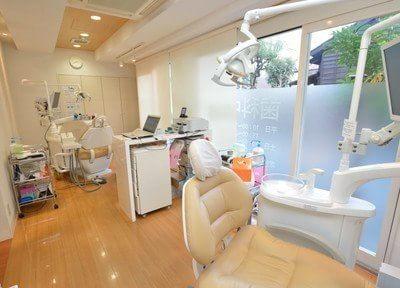 診療スペースは明るく開放的な空間です。