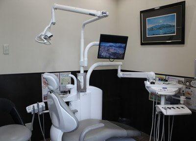 診療室です。高級感漂う空間です。