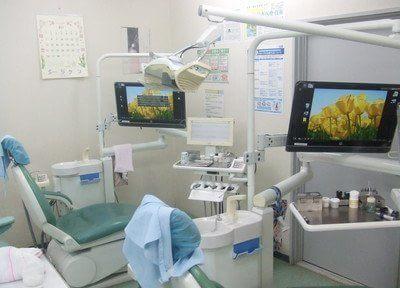 診療室です。治療について不安点などありましたら、お気軽にご相談ください。