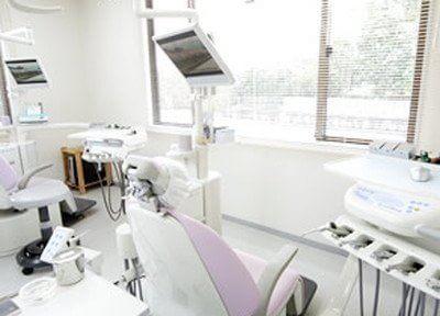 診療室です。外の光が差し込み、気持ちよく治療が受けられます。